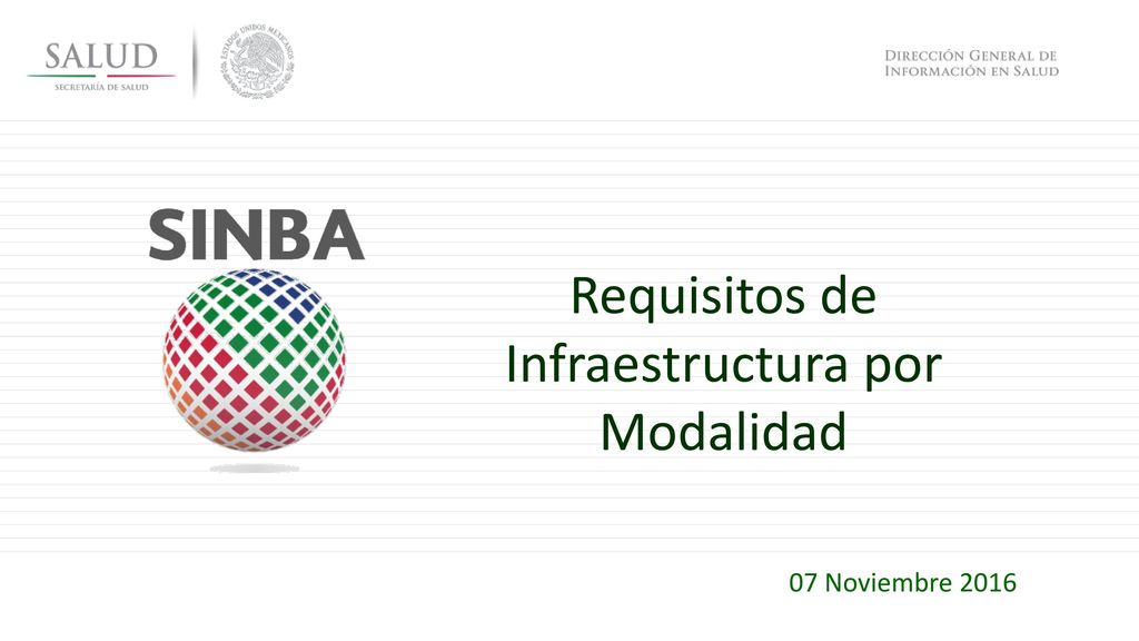 Requisitos de Infraestructura por Modalidad