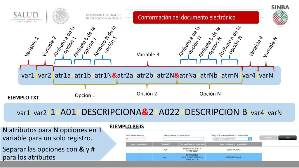 var1|var2|1#A01#DESCRIPCIONA&2#A022#DESCRIPCION B|var4|varN