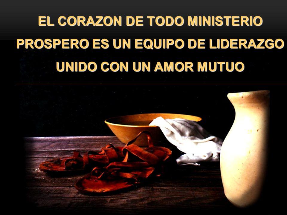 3/24/2017 EL CORAZON DE TODO MINISTERIO PROSPERO ES UN EQUIPO DE LIDERAZGO UNIDO CON UN AMOR MUTUO