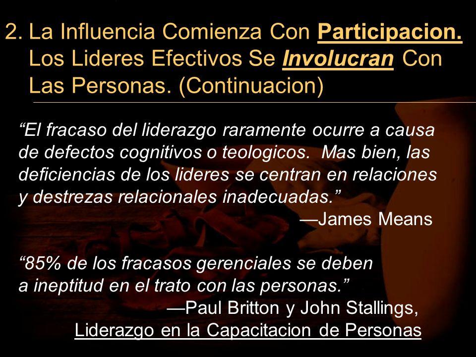 2. La Influencia Comienza Con Participacion