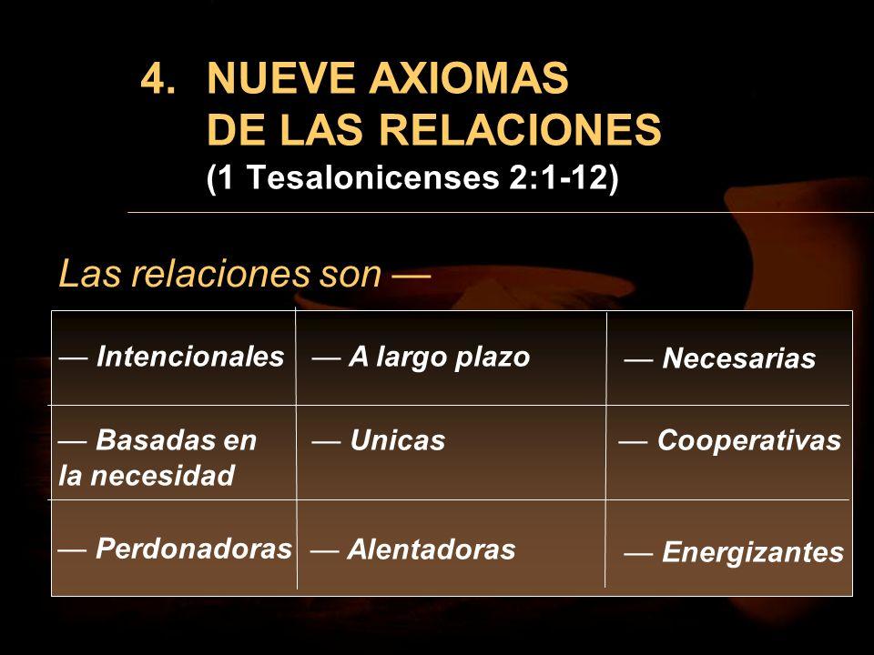 NUEVE AXIOMAS DE LAS RELACIONES (1 Tesalonicenses 2:1-12)