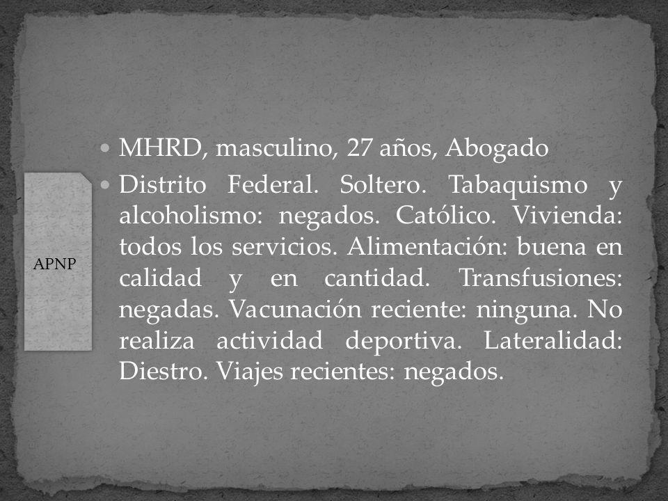 MHRD, masculino, 27 años, Abogado