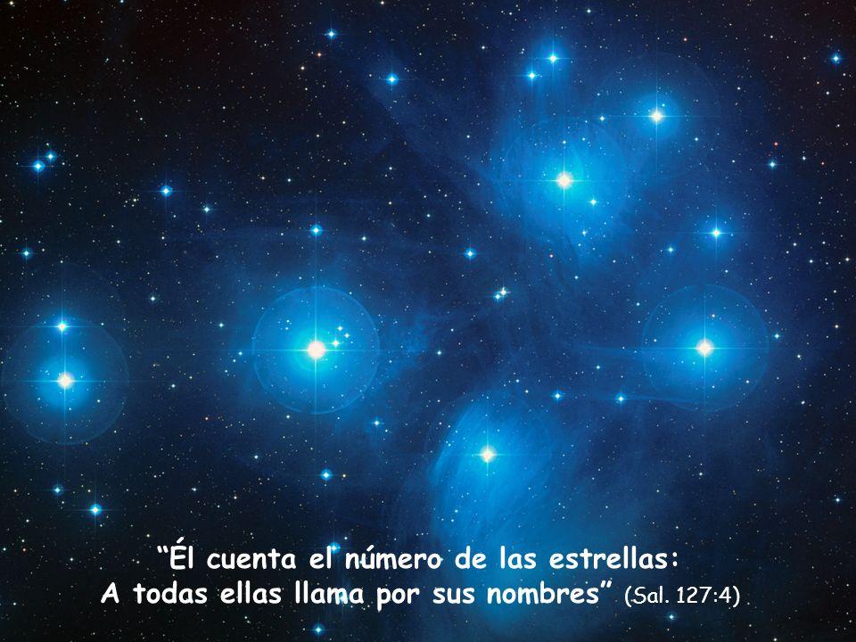 Él cuenta el número de las estrellas: