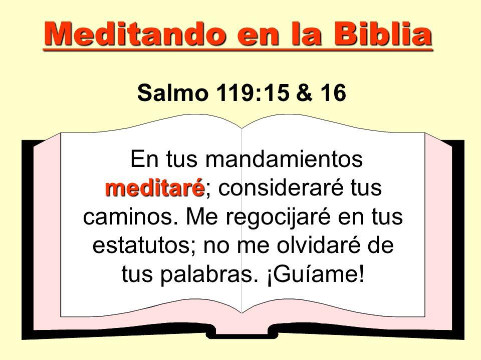 Meditando en la Biblia Salmo 119:15 & 16