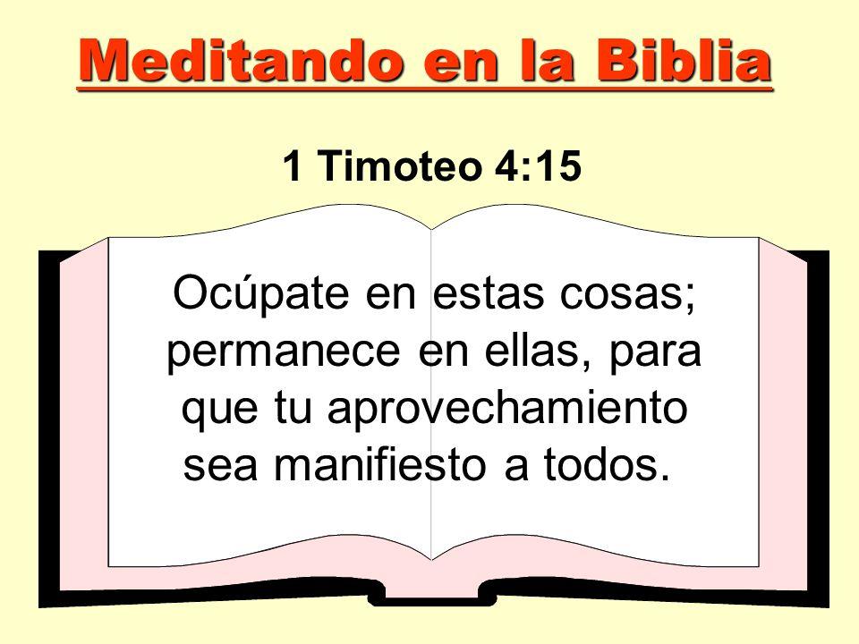 Meditando en la Biblia 1 Timoteo 4:15.
