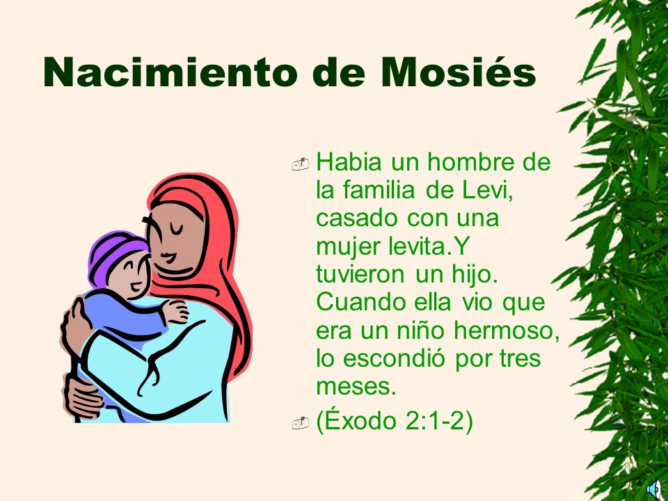 Nacimiento de Mosiés