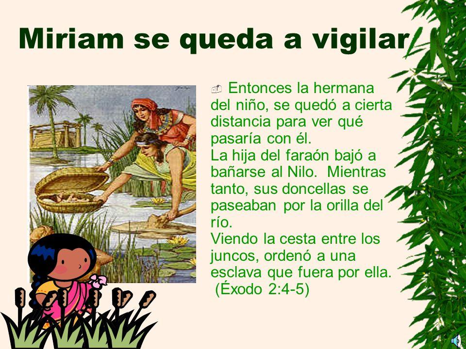 Miriam se queda a vigilar
