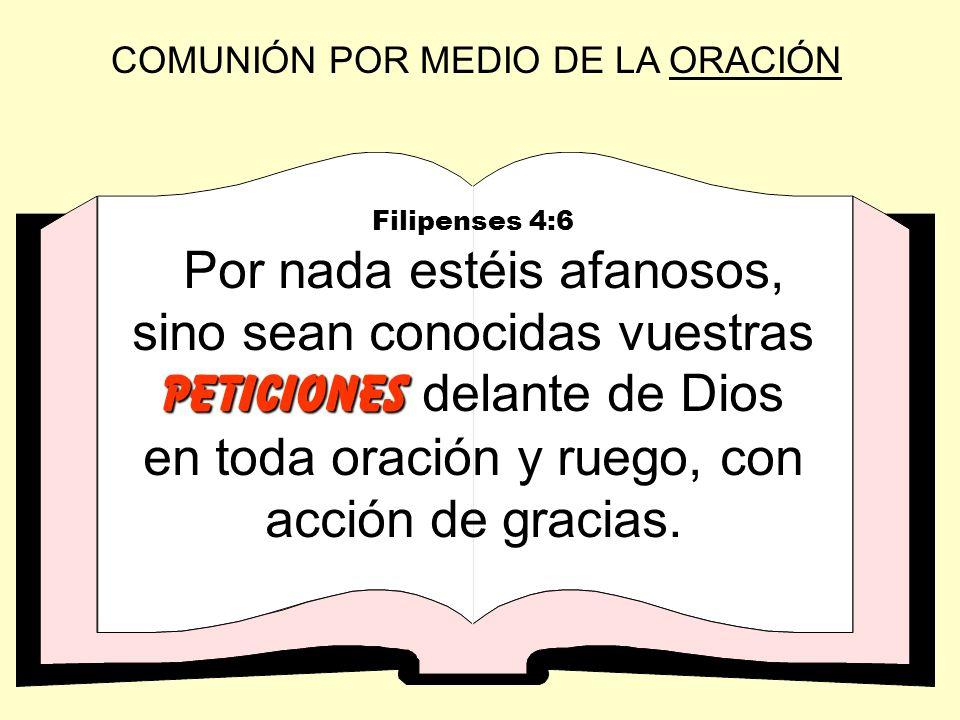 COMUNIÓN POR MEDIO DE LA ORACIÓN