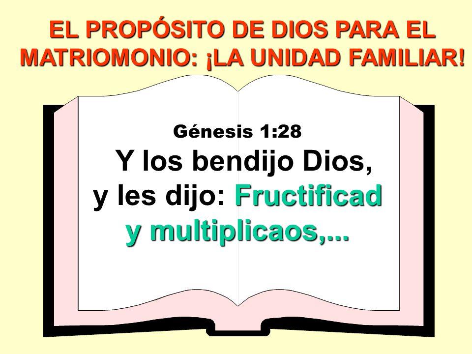 EL PROPÓSITO DE DIOS PARA EL MATRIOMONIO: ¡LA UNIDAD FAMILIAR!
