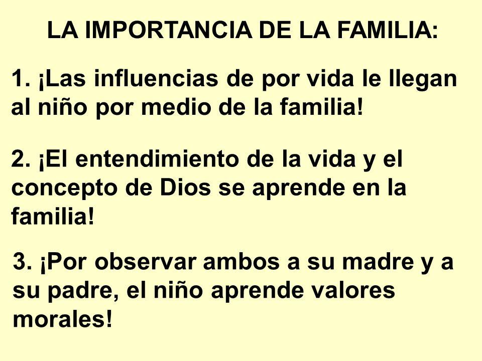 LA IMPORTANCIA DE LA FAMILIA:
