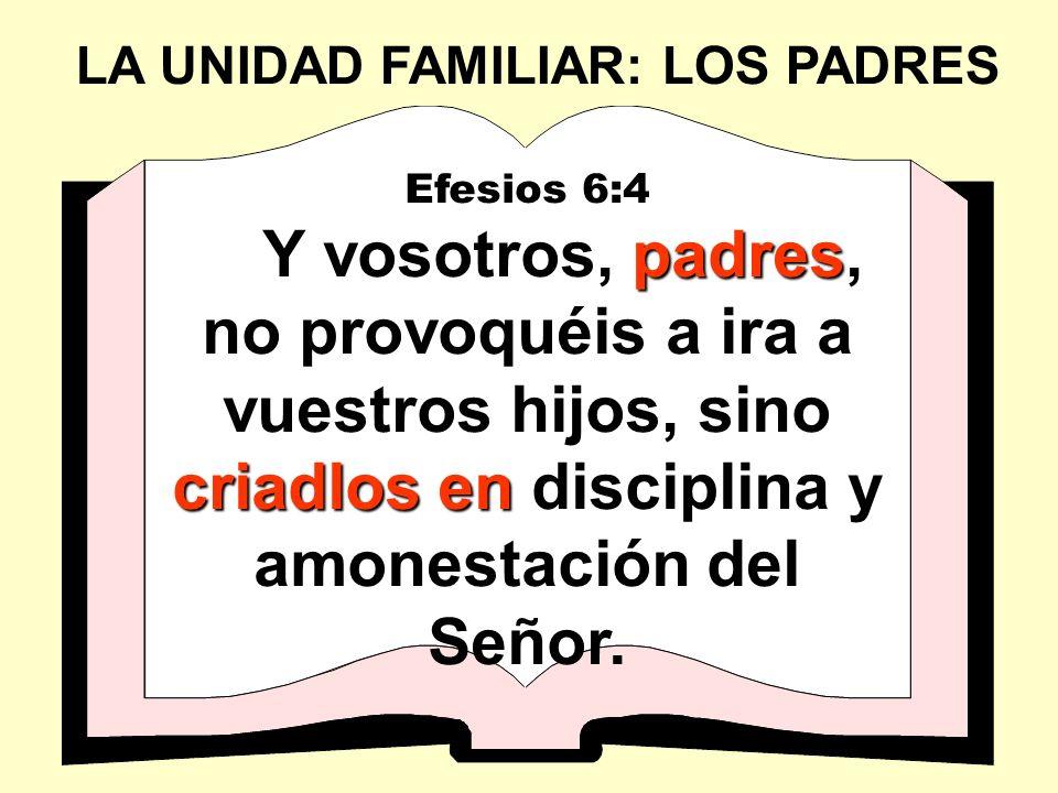 LA UNIDAD FAMILIAR: LOS PADRES