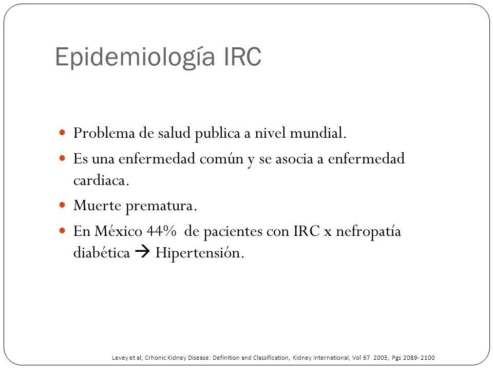 Epidemiología IRC Problema de salud publica a nivel mundial.