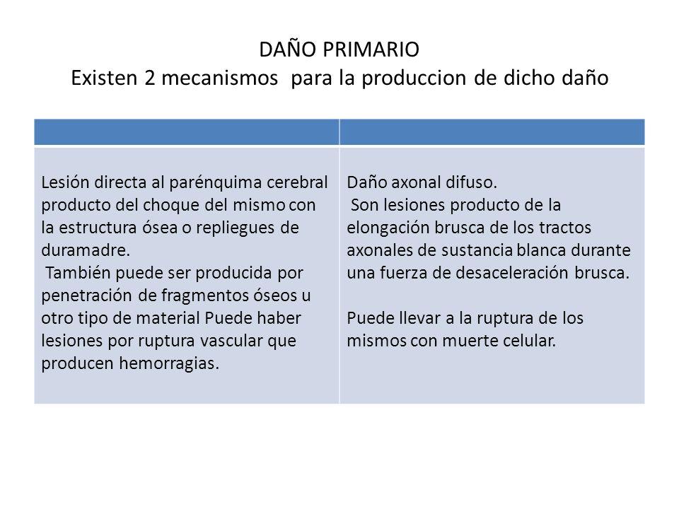 DAÑO PRIMARIO Existen 2 mecanismos para la produccion de dicho daño