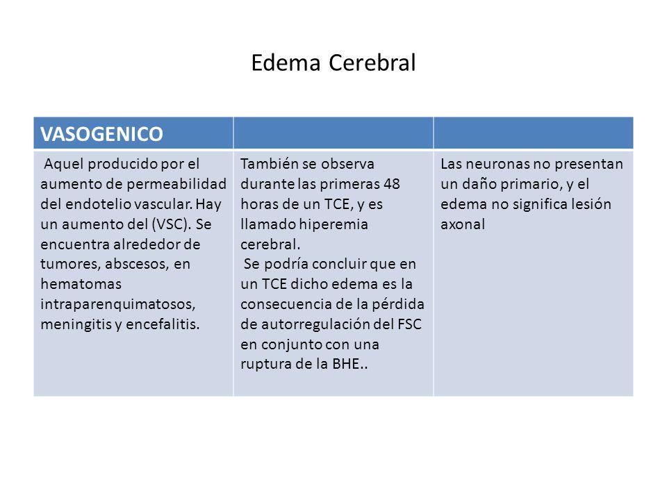 Edema Cerebral VASOGENICO