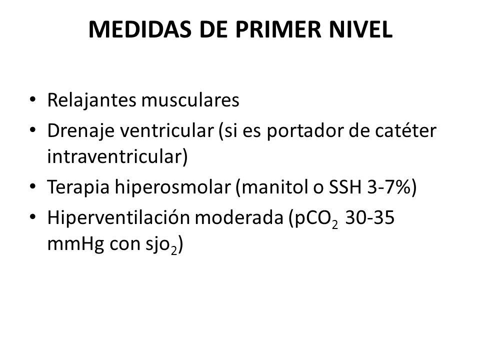 MEDIDAS DE PRIMER NIVEL