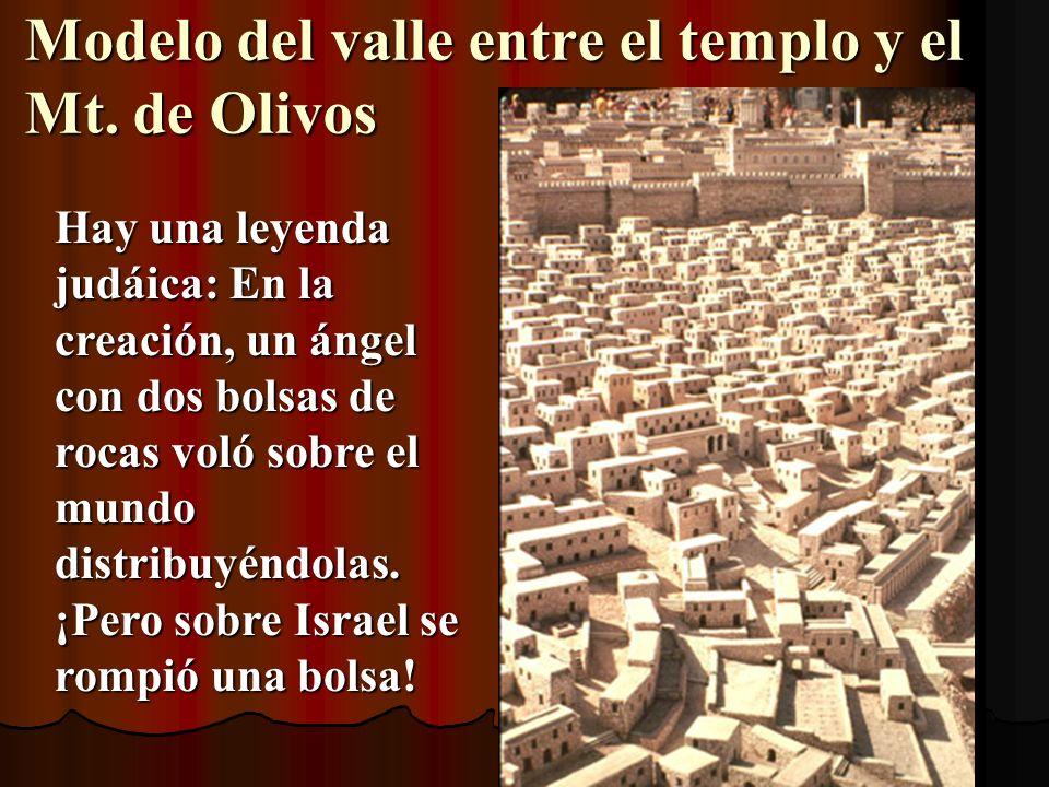Modelo del valle entre el templo y el Mt. de Olivos