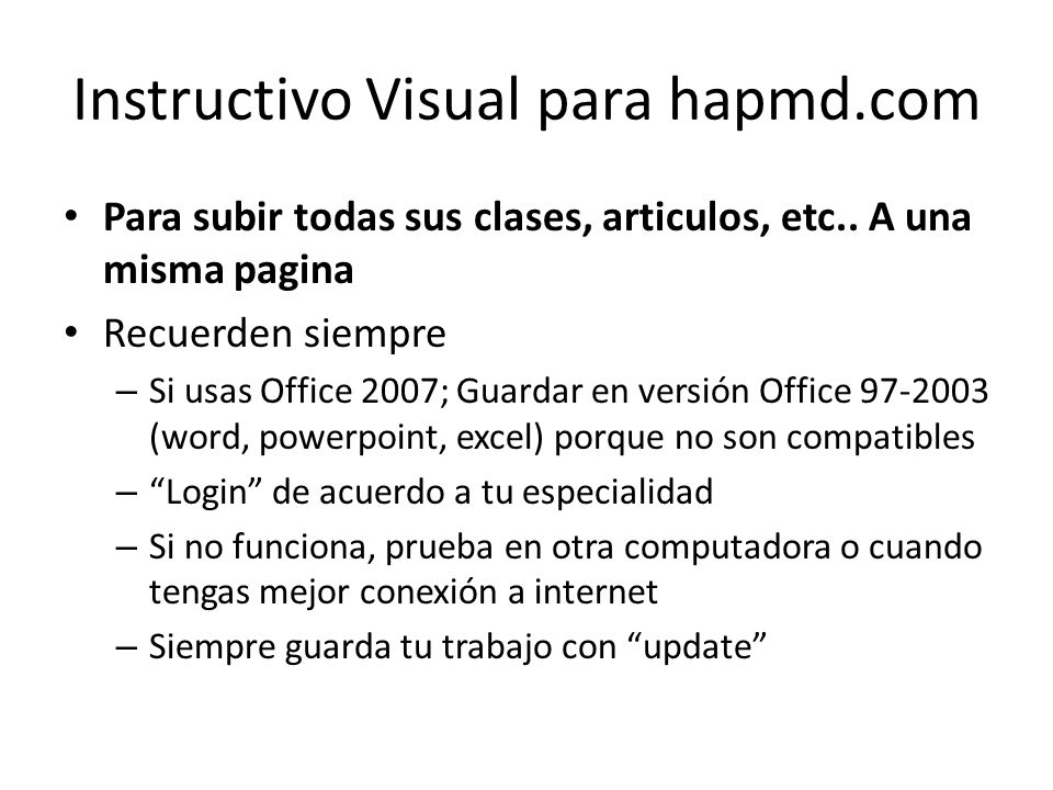Instructivo Visual para hapmd.com