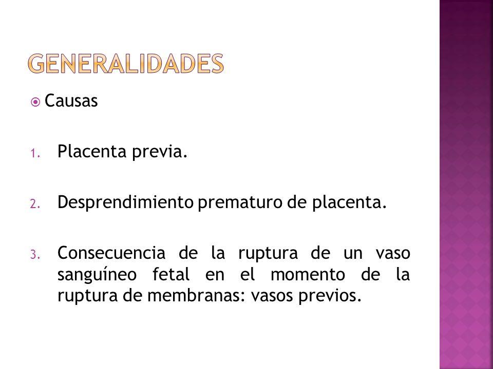 GENERALIDADES Causas Placenta previa.