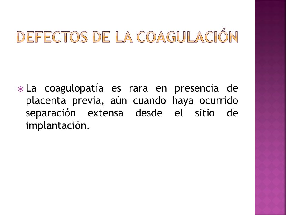 DEFECTOS DE LA COAGULACIÓN