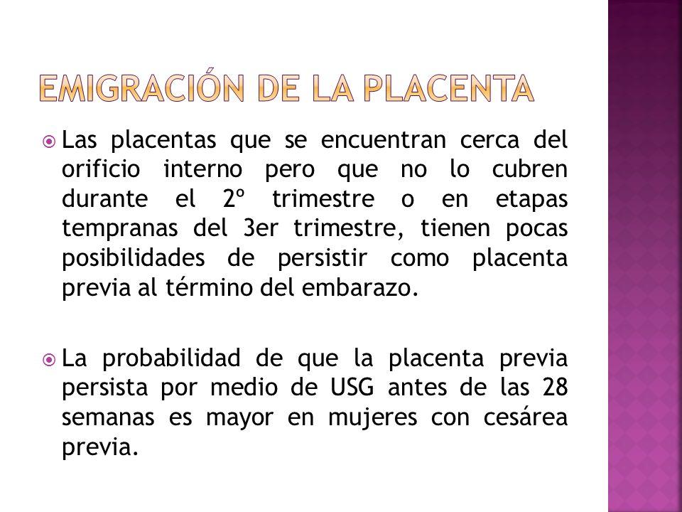 Emigración de la placenta