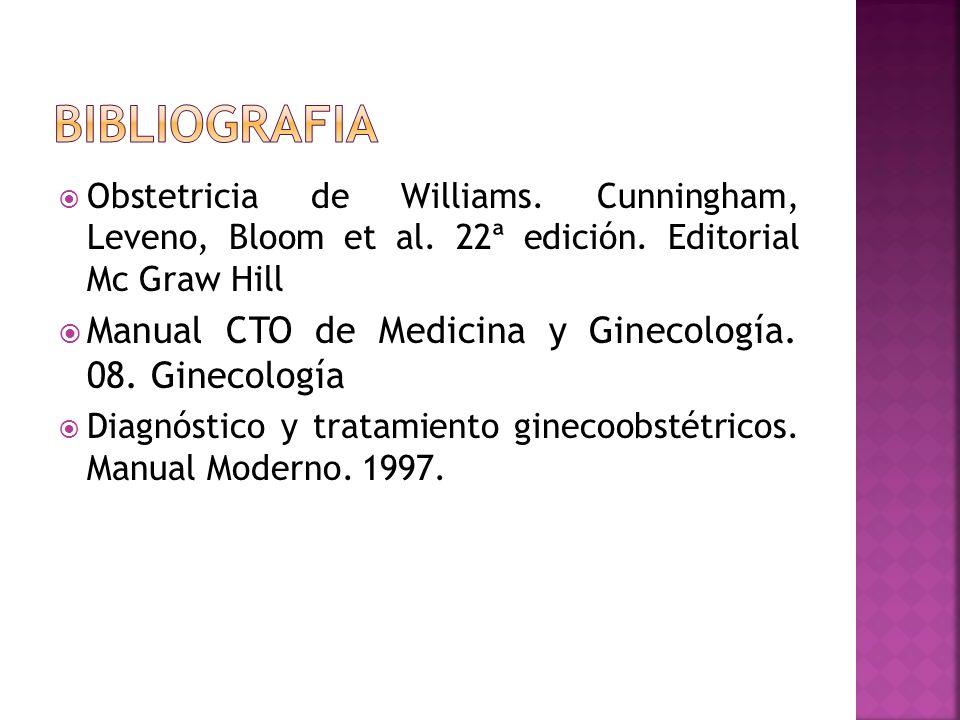 bibliografia Manual CTO de Medicina y Ginecología. 08. Ginecología