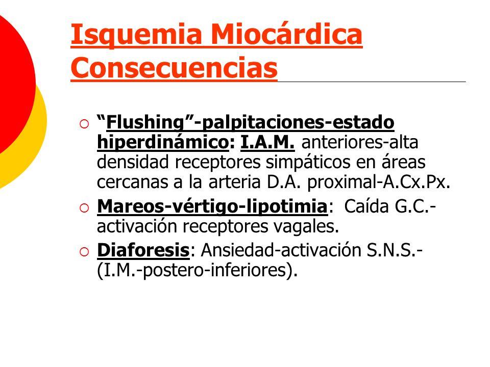 Isquemia Miocárdica Consecuencias