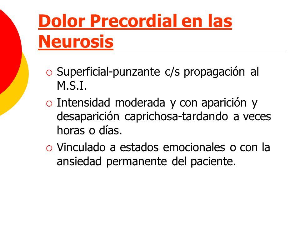 Dolor Precordial en las Neurosis