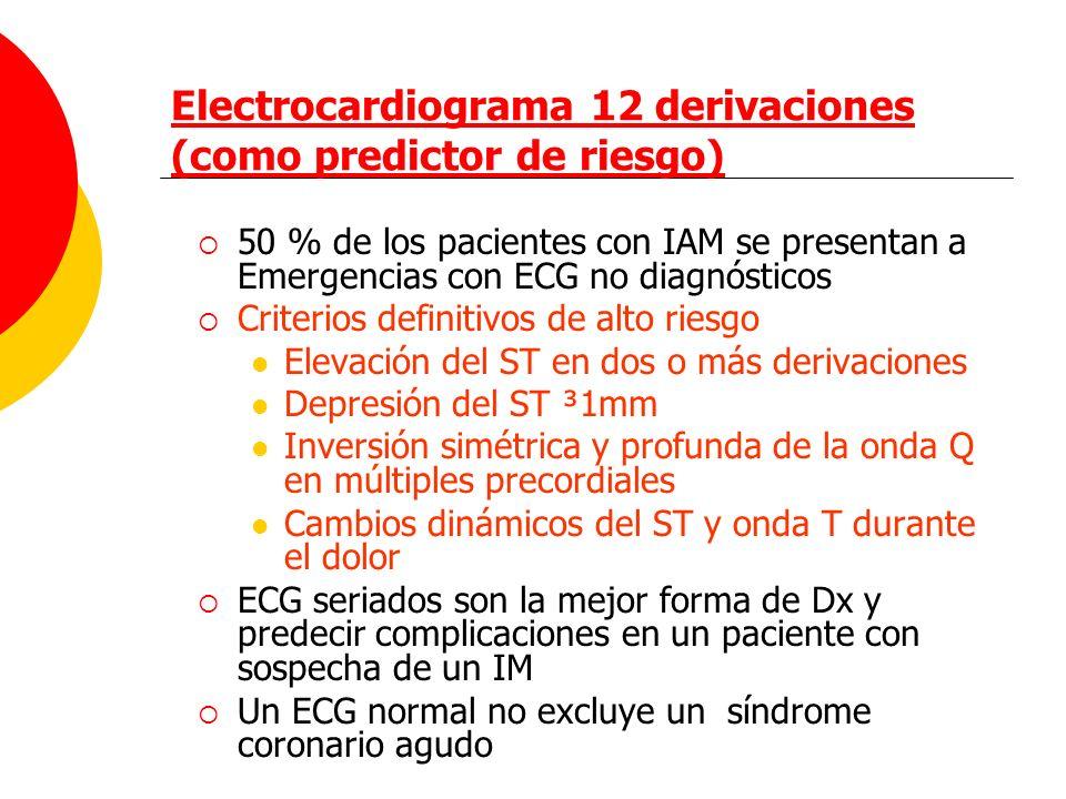 Electrocardiograma 12 derivaciones (como predictor de riesgo)