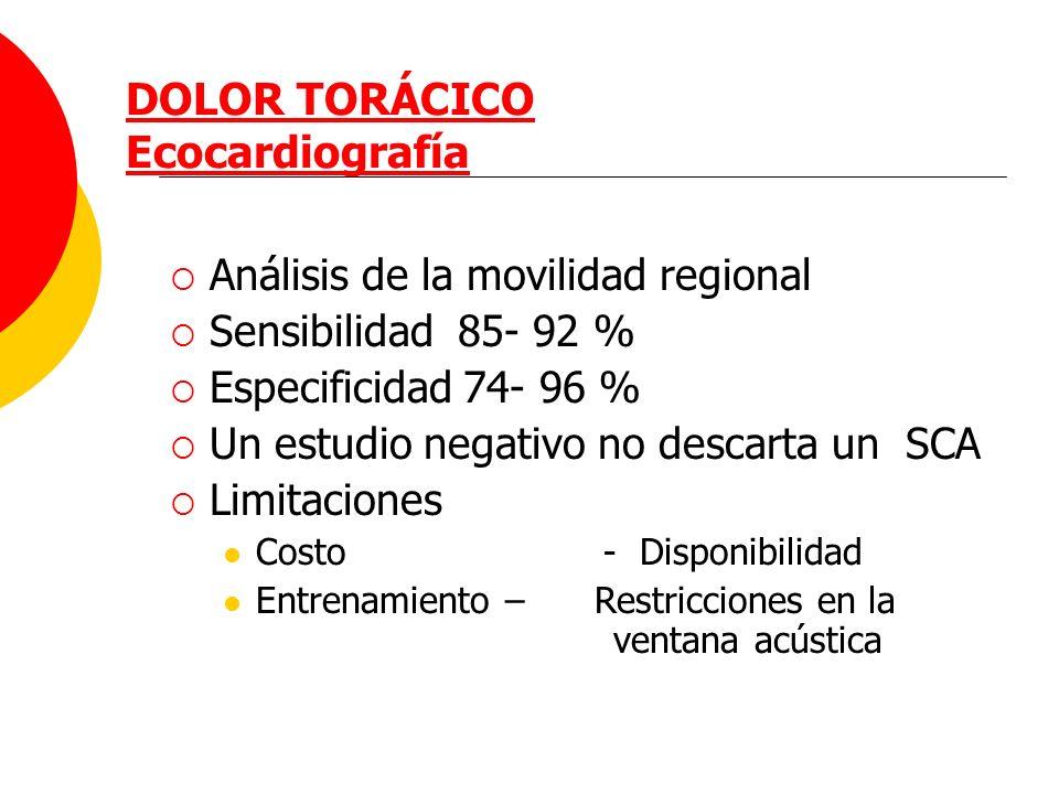 DOLOR TORÁCICO Ecocardiografía