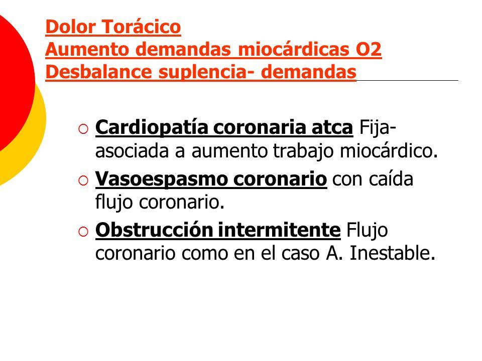 Cardiopatía coronaria atca Fija-asociada a aumento trabajo miocárdico.