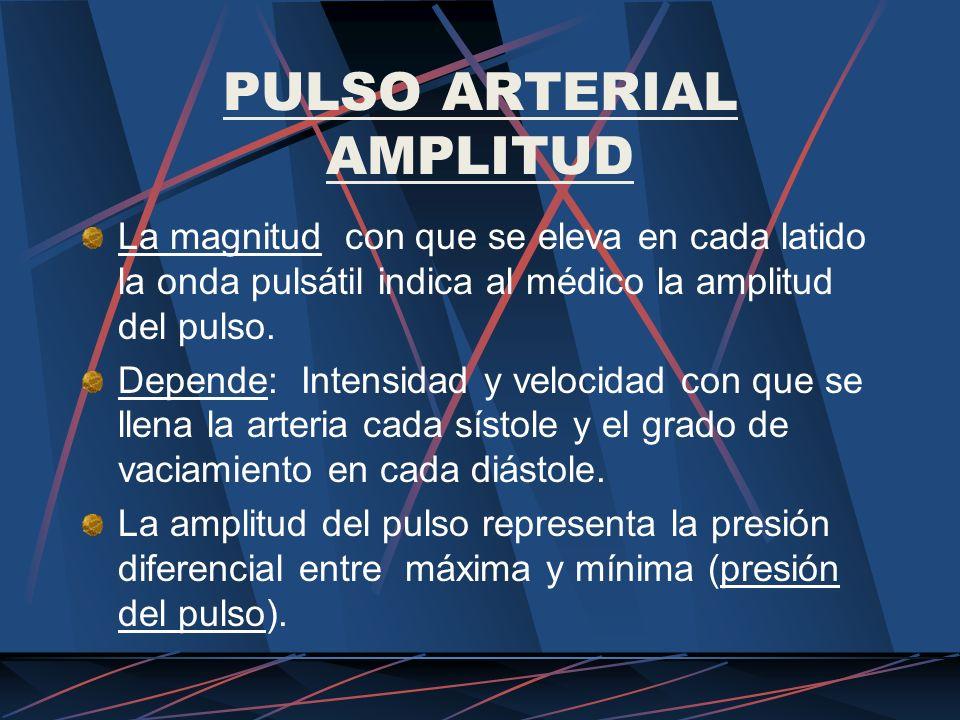 PULSO ARTERIAL AMPLITUD