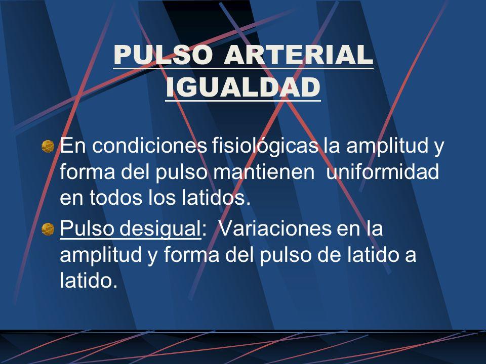 PULSO ARTERIAL IGUALDAD
