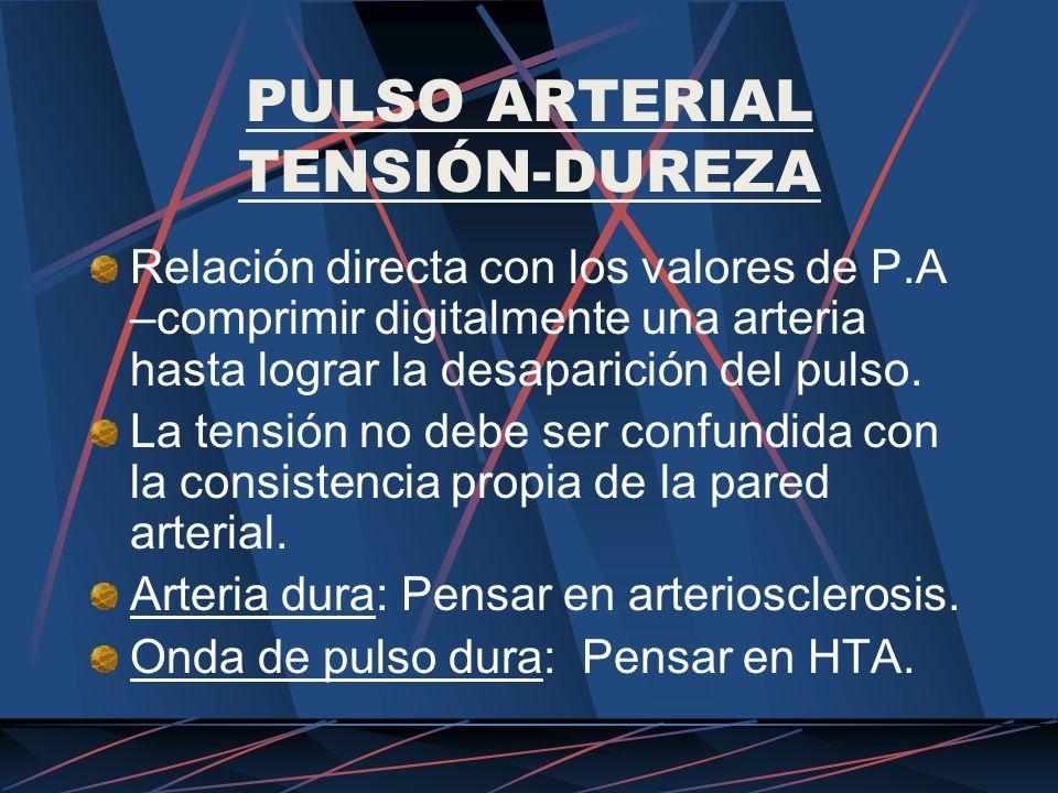 PULSO ARTERIAL TENSIÓN-DUREZA
