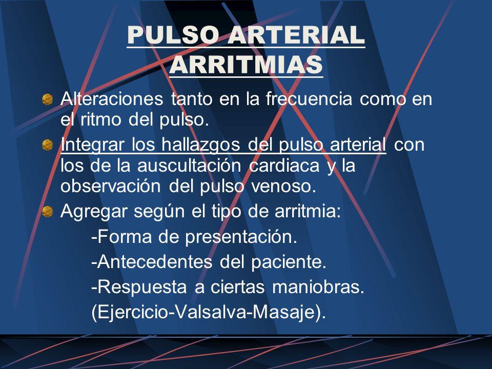 PULSO ARTERIAL ARRITMIAS