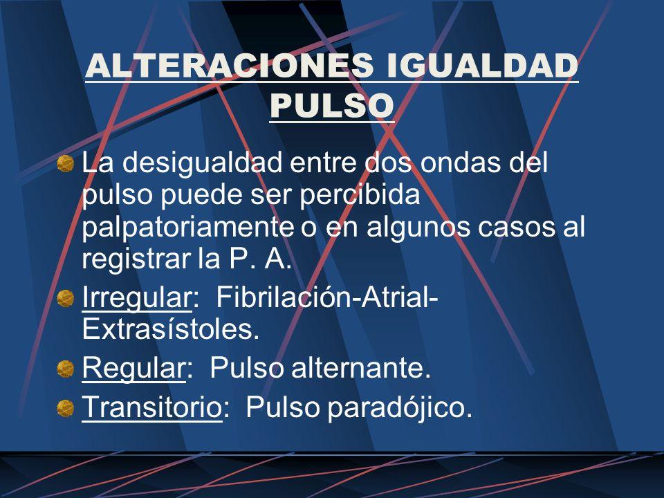 ALTERACIONES IGUALDAD PULSO