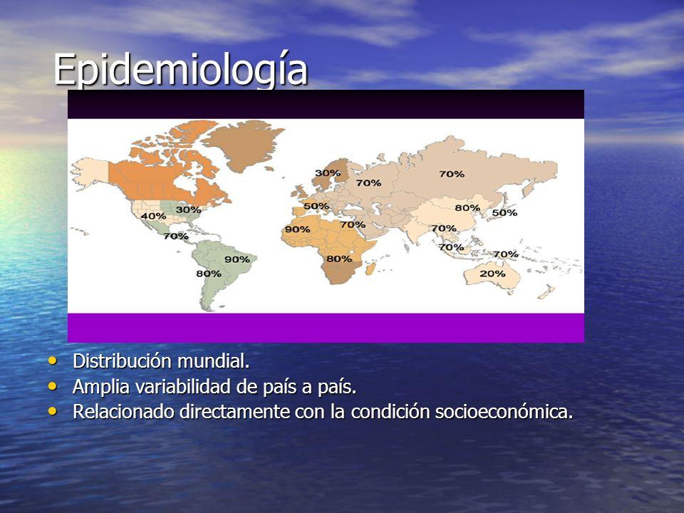 Epidemiología Distribución mundial.