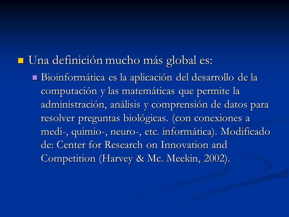 Una definición mucho más global es: