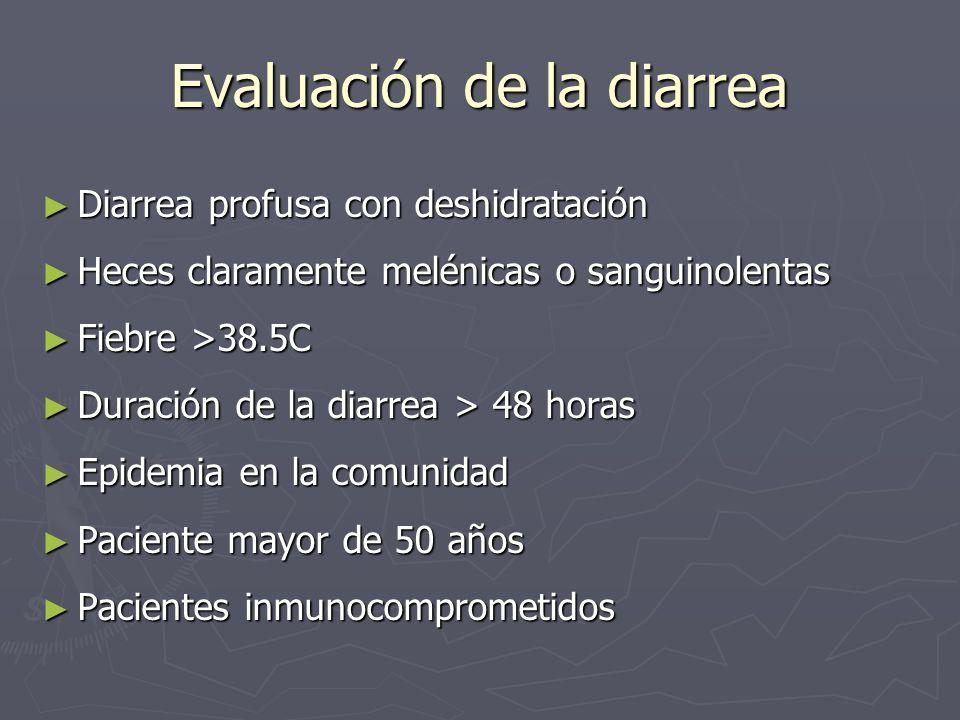 Evaluación de la diarrea