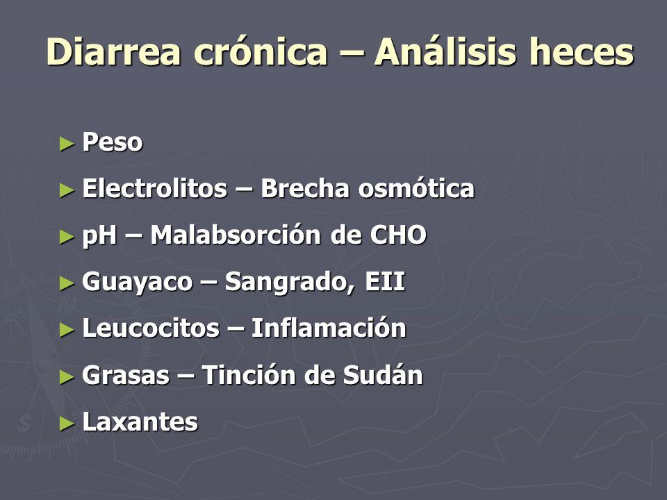 Diarrea crónica – Análisis heces