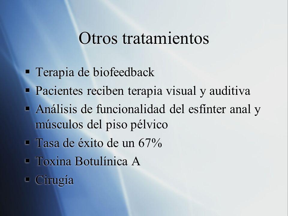 Otros tratamientos Terapia de biofeedback