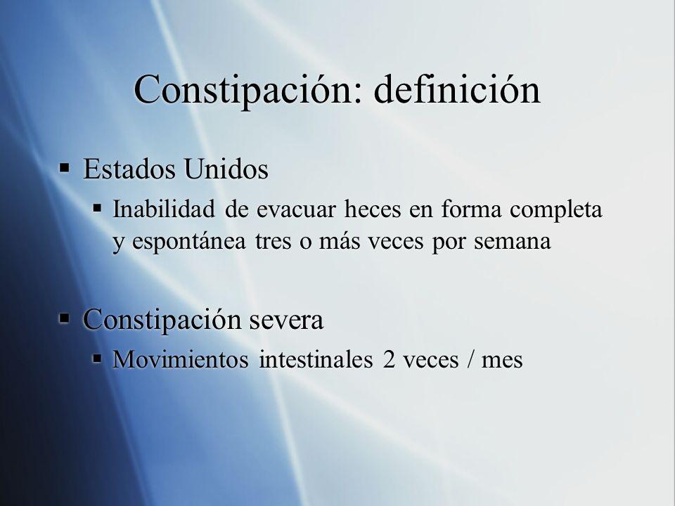 Constipación: definición