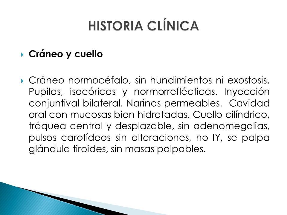 HISTORIA CLÍNICA Cráneo y cuello