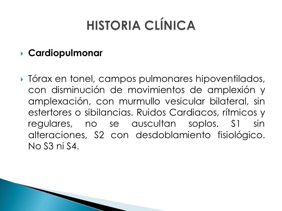 HISTORIA CLÍNICA Cardiopulmonar