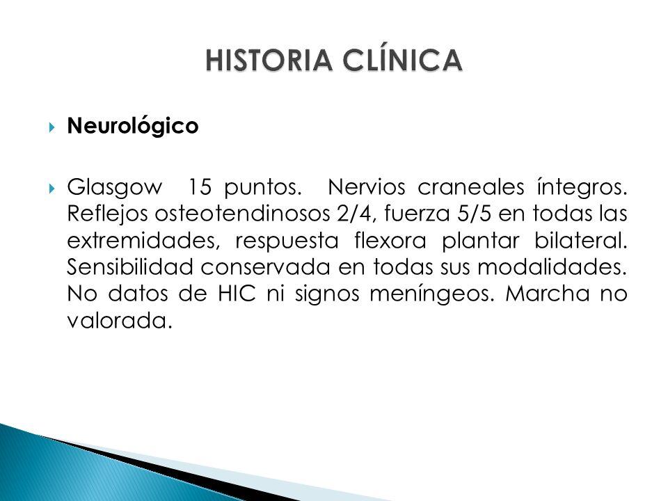 HISTORIA CLÍNICA Neurológico