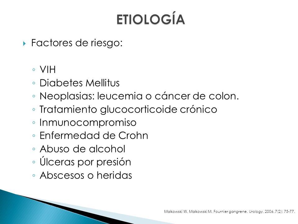 ETIOLOGÍA Factores de riesgo: VIH Diabetes Mellitus