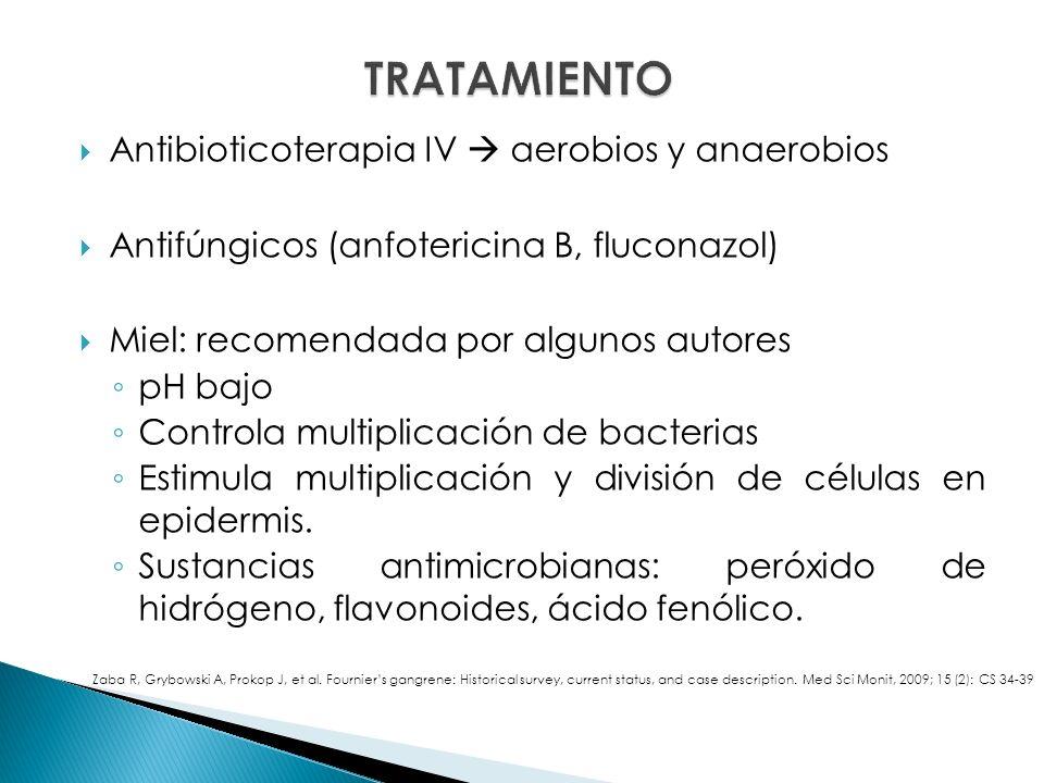 TRATAMIENTO Antibioticoterapia IV  aerobios y anaerobios