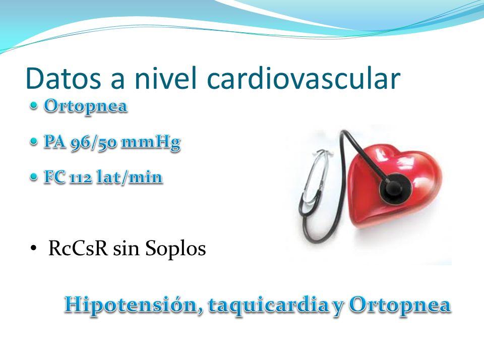 Datos a nivel cardiovascular