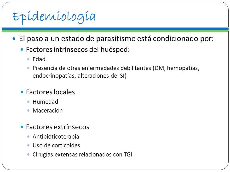 Epidemiología El paso a un estado de parasitismo está condicionado por: Factores intrínsecos del huésped: