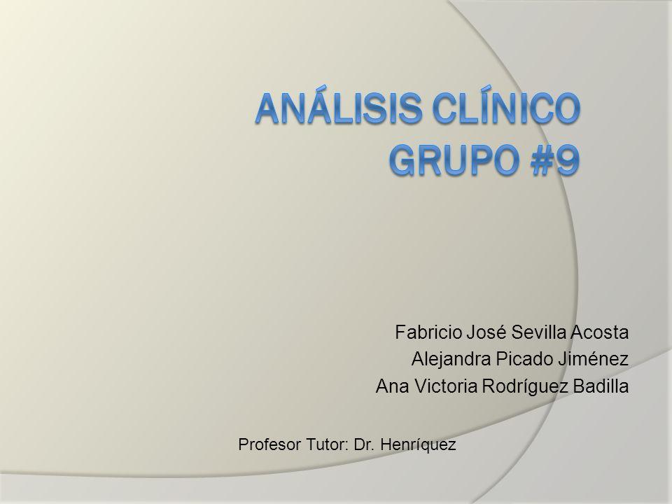 Análisis Clínico Grupo #9