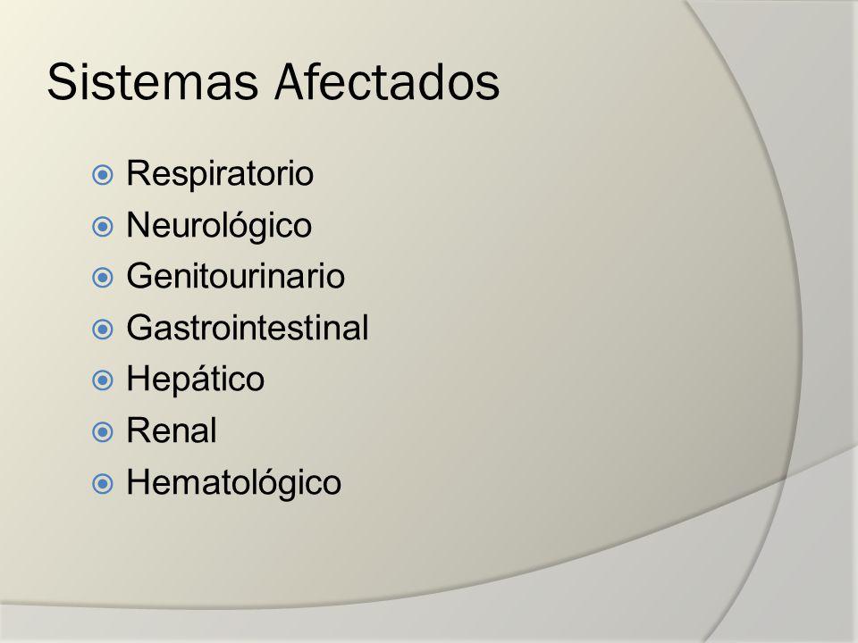 Sistemas Afectados Respiratorio Neurológico Genitourinario